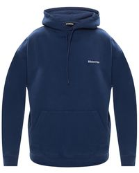 Balenciaga Logo-embroidered Hoodie - Blue
