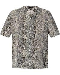 AllSaints 'reptilia' Patterned Shirt - Gray