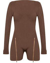 Jacquemus 'le Body Yeru' Jumpsuit - Brown