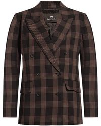 PS by Paul Smith Patterned Blazer - Brown