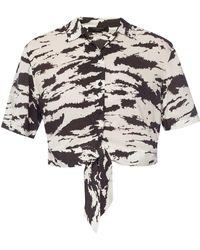 AllSaints 'leni' Tie-up Shirt - White