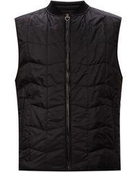 Ferragamo Quilted Vest - Black