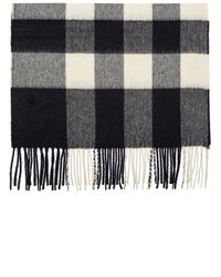 Burberry The Large Classic Cashmere Scarf In Check Navy - Blue