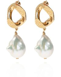Burberry - Pearl-embellished Earrings Gold - Lyst