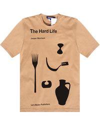 Junya Watanabe Printed T-shirt - Natural