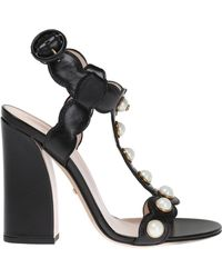 Gucci 'willow' Heel Sandals - Black