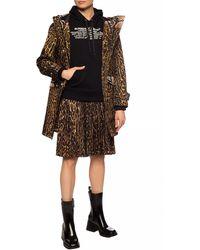 Burberry Leopard-printed Jacket Brown