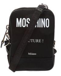 Moschino Logo-printed Shoulder Bag - Black
