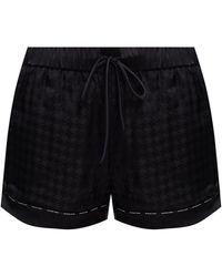 Balmain Silk Pyjama Trousers Black