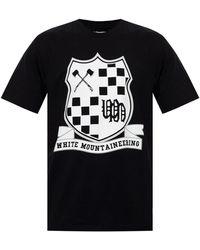 White Mountaineering Logo-printed T-shirt Black