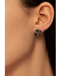 Versace - Earrings With Logo - Lyst
