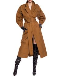 Victoria Beckham Belted Trench Coat Brown