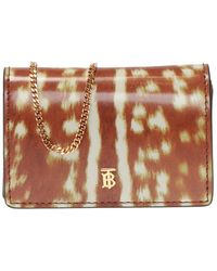 Burberry Card Holder With Chain - Brown