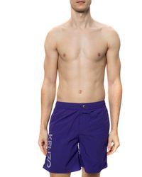 KENZO Swim Shorts With Logo Purple