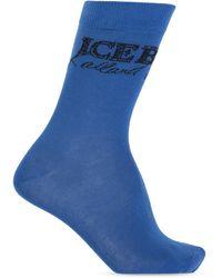 Iceberg Socks With Logo - Blue