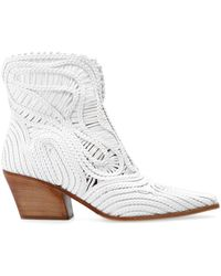 Le Silla 'charlize' Heeled Ankle Boots White