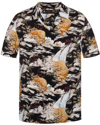 AllSaints - 'sumatra' Patterned Shirt With Short Sleeves - Lyst