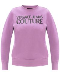 Versace Jeans Couture Sweatshirt With Logo Purple
