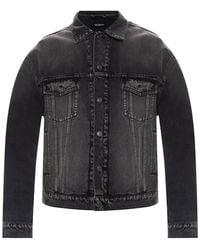 Balenciaga Washed-out Denim Jacket Grey