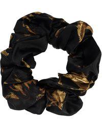 Ganni Silk Scrunchie - Black