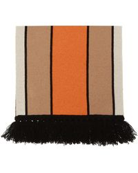 Burberry Logo-embroidered Scarf - Natural