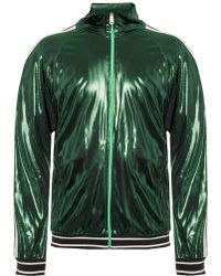 c233a0eac Gucci Washed Velvet Corduroy Bomber Jacket in Green for Men - Lyst