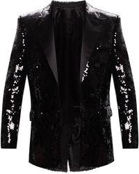 Balmain Sequinned Blazer - Black