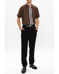 Burberry Monogram Polo Shirt - Brown