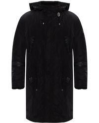 John Richmond Coat With Logo - Black