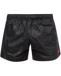 Off-White c/o Virgil Abloh Appliquéd Swimming Shorts - Black