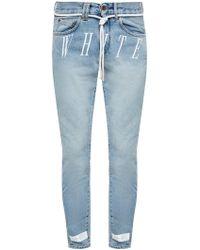 Off-White c/o Virgil Abloh Drawstring Jeans - Blue