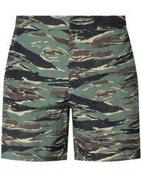 AllSaints 'tirador' Camo Shorts - Green