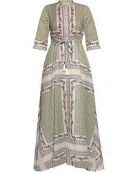 Tory Burch Voile Long Dress - Green