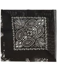 Saint Laurent Patterned Scarf - Black