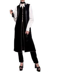 Saint Laurent Vest With Side Slits Black