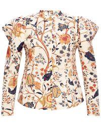 Ulla Johnson 'harriet' Printed Shirt Multicolour - Natural
