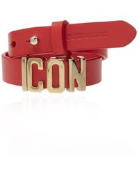 DSquared² Leather Choker Red