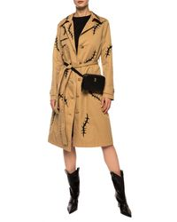 Moschino Patterned Coat Brown