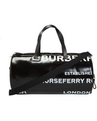 Burberry Branded Duffle Bag - Black