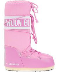 Moon Boot 'nylon' Snow Boots - Pink
