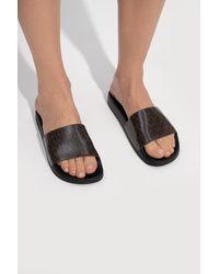 MICHAEL Michael Kors 'gilmore' Slides With Logo Black