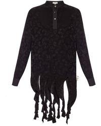 Loewe Embroidered Top - Black