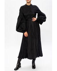 Jil Sander Pleated Skirt Black