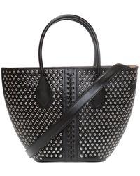 Alaïa 'latifa' Shoulder Bag - Black