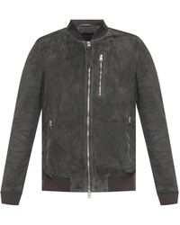 AllSaints 'kemble' Suede Jacket - Gray