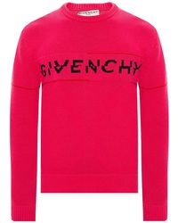 Givenchy Sweater With Logo Pink