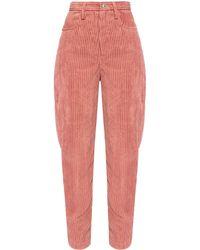 Étoile Isabel Marant Corduroy Trousers Pink
