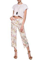 Lanvin Patterned Jeans Cream - Multicolour