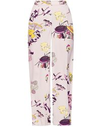Tory Burch Mushroom Party Pajama Pant - Multicolor