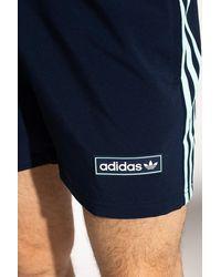 adidas Originals Shorts With Logo Navy Blue